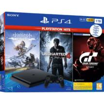 Sony PlayStation 4 Slim 1TB + PS Hits: Horizon Zero Dawn + Uncharted 4 + Gran Turismo Sport PS719318804