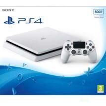 Sony PlayStation 4 Slim Glacier White 500GB PS719755517 + 1db ajándék játék*