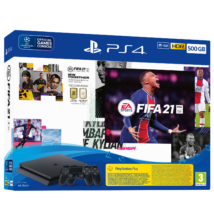 Sony PlayStation 4 Slim 500GB + FIFA 21 + 2db DualShock 4 kontroller PS719831129